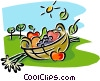 Vector Clipart illustration  of a fresh vegetables