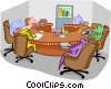 Vector Clip Art picture  of a Boardroom meeting