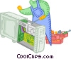 computer technical services Vector Clip Art picture