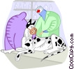 Vector Clip Art image  of a veterinary services