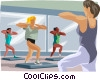 Exercise, physical fitness Vector Clipart picture