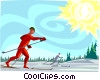 winter sports, skiing Vector Clip Art graphic