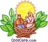 nativity scene Vector Clipart illustration