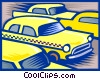 Vector Clipart picture  of a Taxicabs