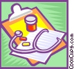 Vector Clip Art picture  of a doctor's clipboard