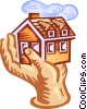real estate, security Vector Clipart graphic