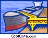 loading a ship Vector Clipart illustration