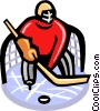 Vector Clip Art image  of a Hockey goalie