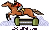 Vector Clipart image  of a horse jumping