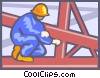 Vector Clip Art graphic  of a Steel construction