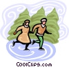 Vector Clip Art graphic  of a skating