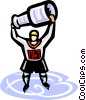 Ice hockey, champions Vector Clip Art graphic