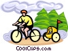 Vector Clipart illustration  of a cycling