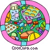 medical, prescriptions, pills, medicine Vector Clip Art graphic
