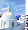 Vector Clip Art picture  of a Mediterranean landscape