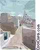 Mediterranean landscape Vector Clipart graphic