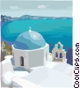 Vector Clipart graphic  of a Mediterranean landscape