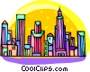 city scene Vector Clipart graphic