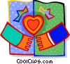 Vector Clip Art graphic  of a Hands joined in love