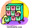 filing cabinets Vector Clip Art graphic