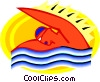 Vector Clip Art graphic  of a Swimming symbol