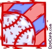 Vector Clip Art graphic  of a baseball