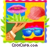 hospitality services Vector Clipart illustration
