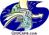 Vector Clipart graphic  of a computer communications