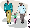 family Vector Clipart illustration