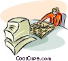 Vector Clipart illustration  of a computer chess