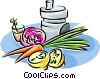 fresh fruits and vegetables Vector Clip Art picture