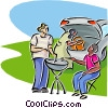 family barbeque Vector Clipart image