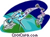 global communications Vector Clipart picture