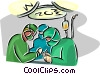 Vector Clipart picture  of a doctors in surgery