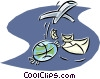 global communications Vector Clip Art picture