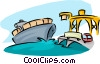 ocean transport Vector Clipart illustration