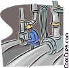 Vector Clipart graphic  of a refinery worker