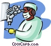 Vector Clip Art graphic  of a lab technician