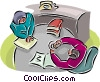 Vector Clipart picture  of a office meetings