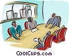 Vector Clip Art graphic  of a Boardroom meeting