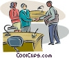 Vector Clipart illustration  of a office workers