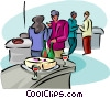 office party Vector Clip Art image
