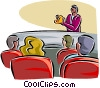 Vector Clip Art picture  of a presentation