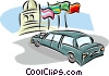 Vector Clipart illustration  of a limousine