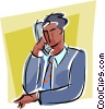 man on telephone Vector Clip Art image