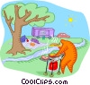 Vector Clipart picture  of a summer picnic