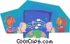 business metaphors, global computing Vector Clip Art picture