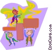 business metaphors, building a strategy Vector Clip Art picture