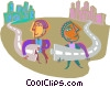 communities working together Vector Clipart graphic