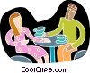 conversation over coffee Vector Clip Art picture